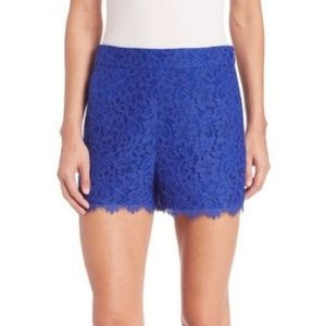NWT Diane Von Furstenberg Fausta Lace Shorts